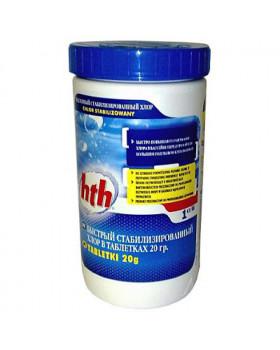 hth Быстрый стабилизированный хлор в таблетках 20 гр. 1.2 кг